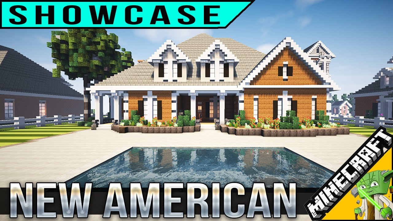 Minecraft new american house youtube for New american home