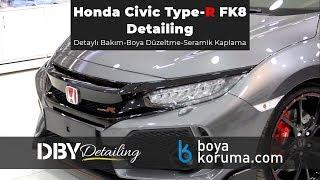 Honda Civic Type-R Maintenance|Paint Correction|Glass Coating w/Nanolex Si3D|DBY Detailing (ENGSub)