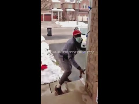**FULL VIDEO** Mississauga Porch Pirate Fails Stealing A Package & Gets His Car Stuck In A Snow Bank