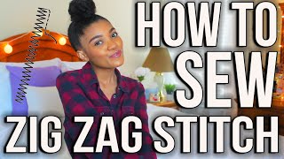 SEWING SERIES | Beginners Sewing Course: How To Sew A ZigZag Stitch!