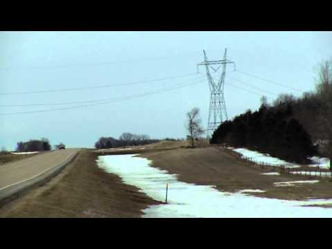 Galloping Basin Electric transmission lines due to wind