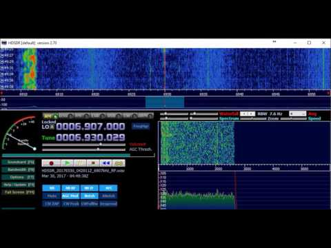 Radio Pirana Int. 6930kHz from South America, 30.03.2017