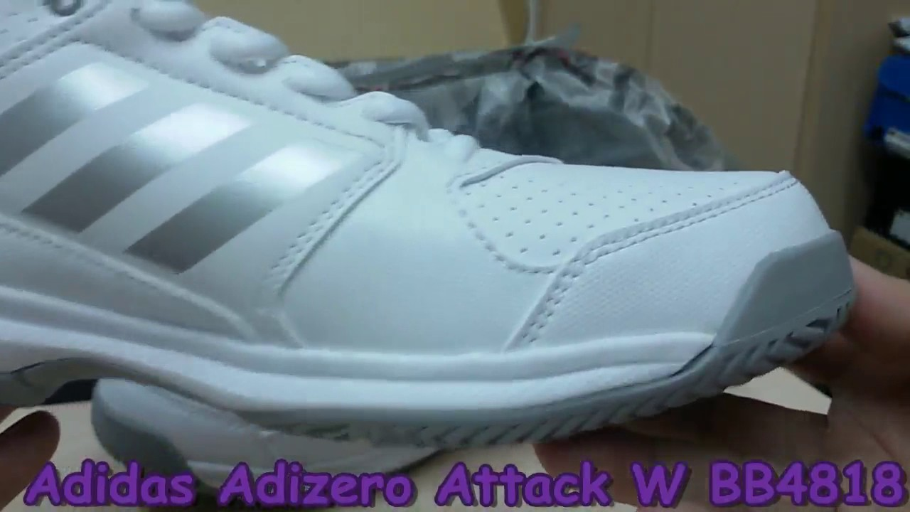 new concept abe93 44f4d Unboxing Review sneakers Adidas Tennis Adizero Attack W BB4818