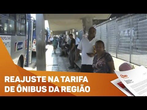 Reajuste na tarifa de ônibus da região - TV SOROCABA/SBT