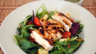 Grilled Chicken Salad With Cilantro Lime Vinaigrette Recipe - Sweet Y Salado