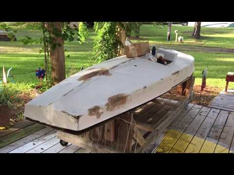 1980 AMF Sunfish Viper 25 Jul 17 Fiberglass Repair
