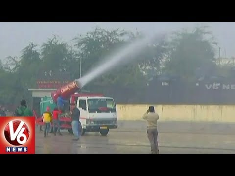 Kejriwal Government Launches Anti-Smog Gun To Control Air Pollution In Delhi | V6 News