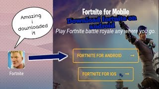 How to download fortnite mobile on Android | it's easy to download fortnite in Android device