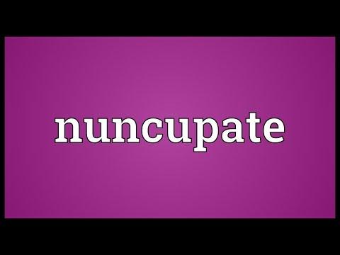 Header of nuncupate