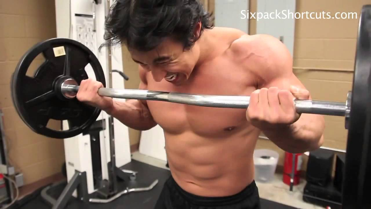 Mike Chang Bench Press Part - 16: Mike Changu0027s Actual Chest And Bicep Workout