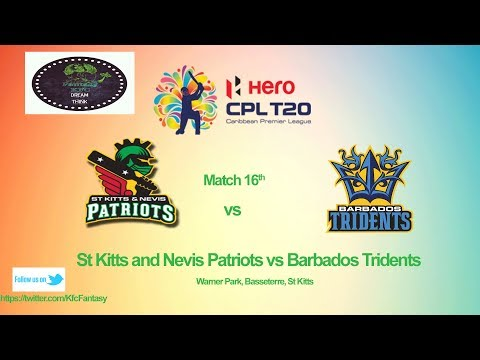 St Kitts and Nevis Patriots VS Barbados Tridents match CPL 2017.