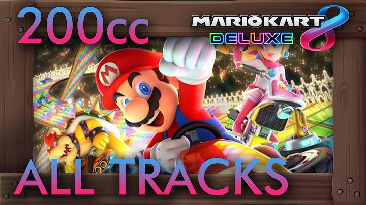 mario kart 8 deluxe  all 48 tracks 200cc w 3 star rank gameplay