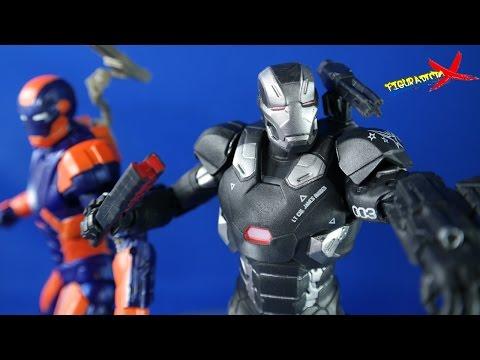"Review War Machine Mark III & Mark 27 ""Disco"" Target Exclusive Marvel Legends Revision Español"