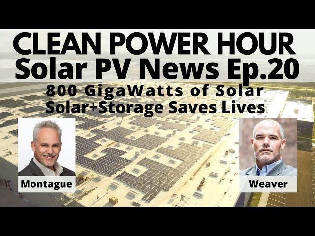 800 GigaWatts of Solar, Solar+Storage Saved Us, Marshall Plan for Solar | Clean Power Hour Ep.20