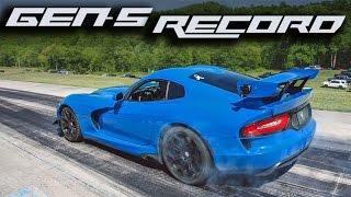1500HP TT Viper - 1/2 Mile Speed Record!