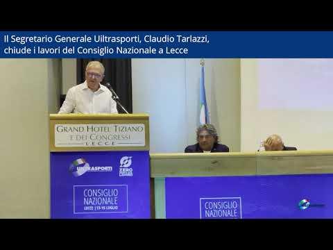 Il Segretario Generale Uiltrasporti Claudio Tarlazzi chiude i lavori del Consiglio Nazionale a Lecce