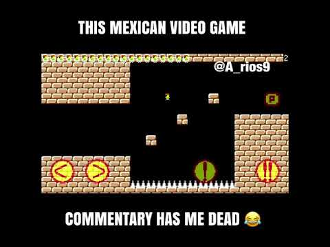 Funny Mexican Guy Playing A Game Similar To Super Mario Bros