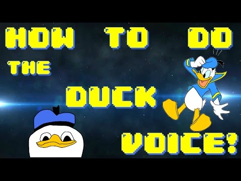 How To Do The Duck Voice Easy For Beginners