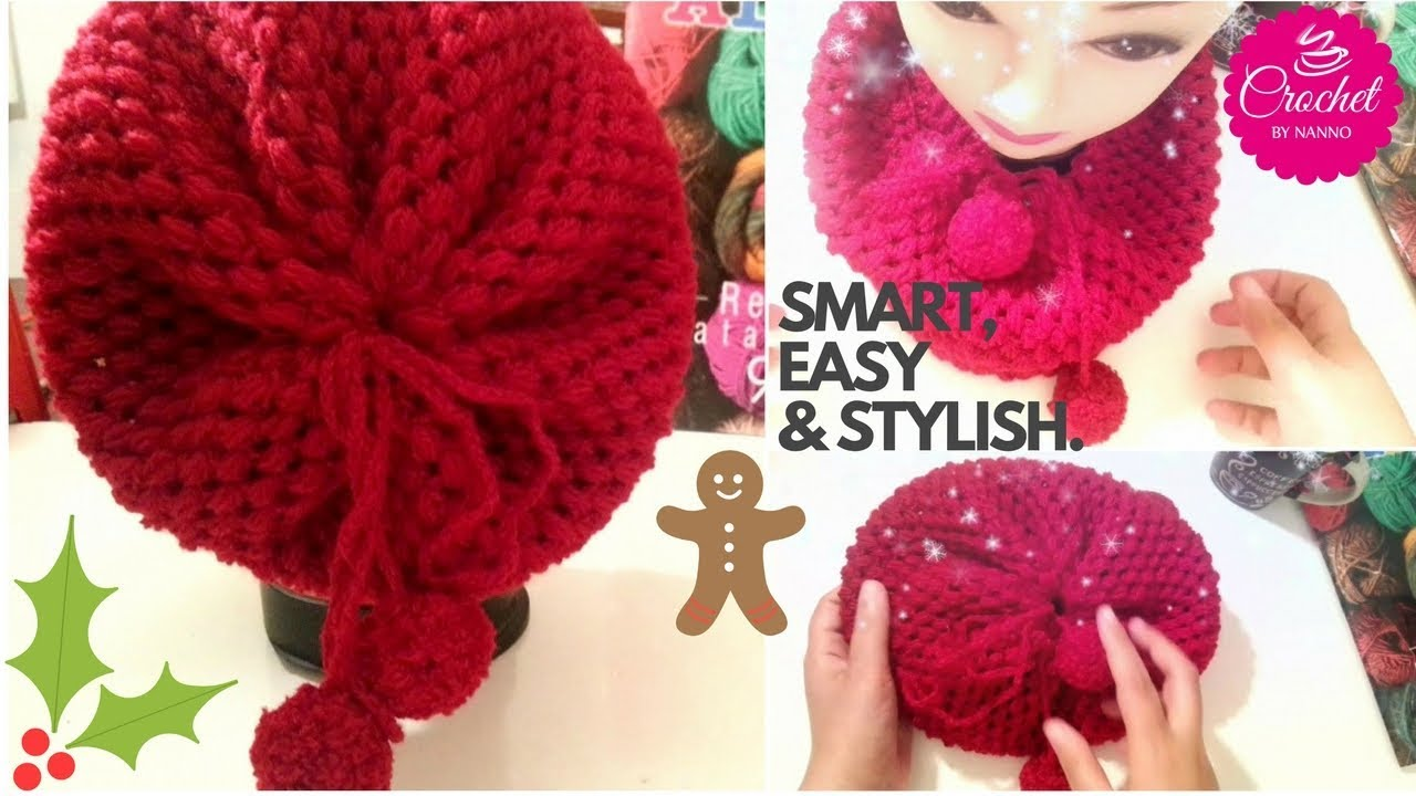 a655977bc7d HOW TO CROCHET 2 in  1 Adorable Gift Infinity Scarf   Hat Beanie ☕ The  Crochet Shop by NANNO