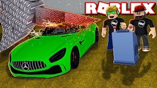 DESTROYING OUR NEW MERCEDES-BENZ in ROBLOX CAR CRUSHERS 2 UPDATE 12
