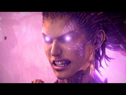 Crucible: Kerrigan Mutates Into Primal Zerg on Zerus (Starcraft 2: Heart of the Swarm)