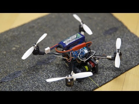Stanford researchers modify small flying robots to haul heavy loads