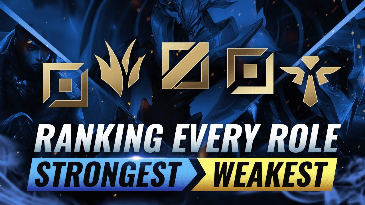Ranking EVERY ROLE From STRONGEST To WEAKEST - League of Legends Season 10 thumbnail