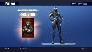 'NOUVEAU' Achat ObliviON Skin (Fortnite Battle Royale)