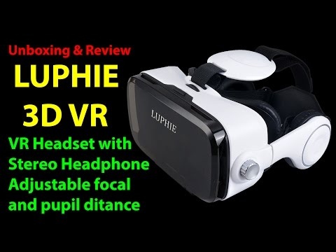 Unboxing LUPHIE 3D VR Headset the all in one VR headset for VR 3D experience.