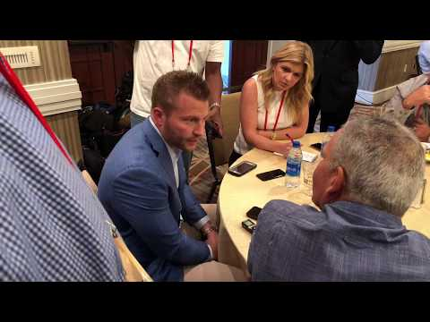 Sean McVay LA Rams Head Coach At NFL Annual Meeting 2019