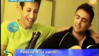 Pablito Ruiz coquetea con Oscar Gayoso en programa de TV 11/10/2011
