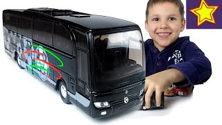 Машинки Welly Автобус Мерседес распаковка игрушки Kids welly toys unboxing