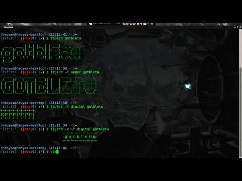Text to Ascii - Figlet & Toilet - Linux Mint 8