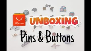 ALIEXPRESS UNBOXING | Pins & Buttons | Zehratu