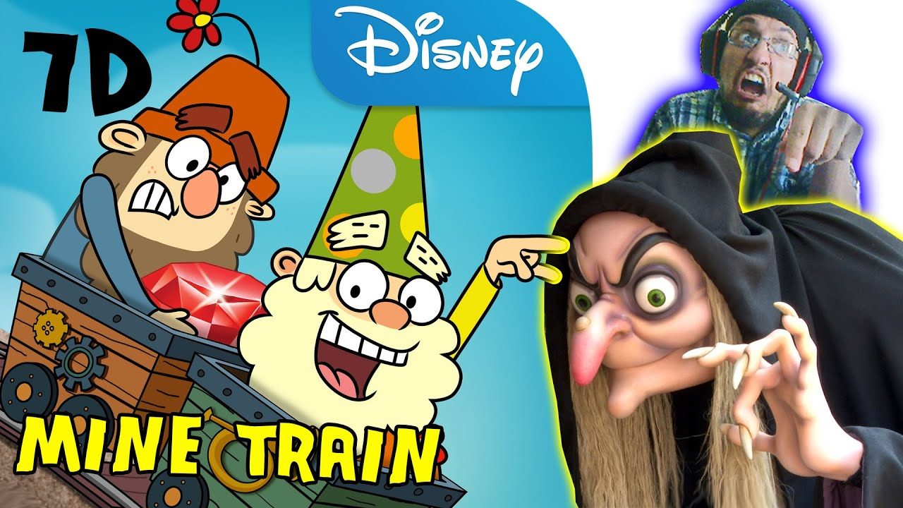Lets Ride The Seven Dwarfs Mine Train inspired by Magic Kingdom Roller Coaster (7D on Disney XD)