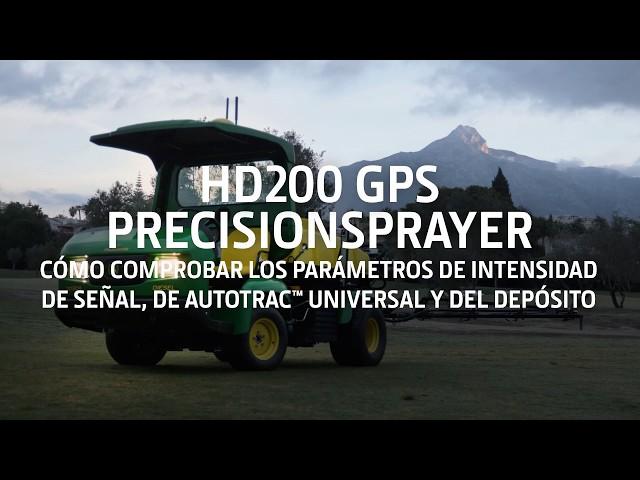 John Deere - HD200 GPS PrecisionSprayer - Comprobar parámetros