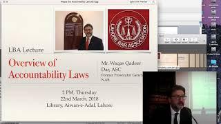 LBA Lecture: NAB Ordinance by Mr. Waqas Qadeer Dar ASC