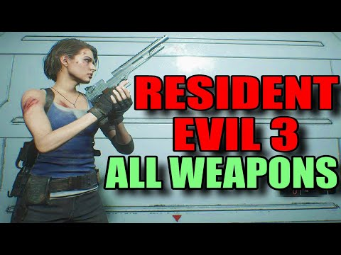 Resident Evil 3 - All Weapons + All Weapon Upgrades [PC 1440P]