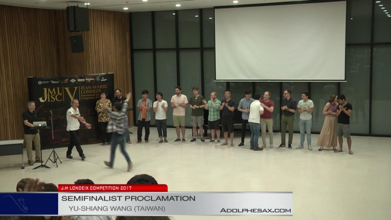 Londeix 2017 - Semifinal Proclamation