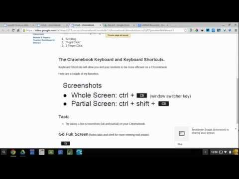 Taking a Screenshot on a Chromebook