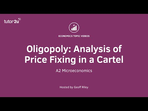 Cartels and Price Fixing - Analysis Diagram