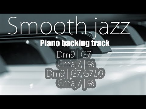 Smooth Jazz Backing Track (Dm) - 90 BPM -Only Bass And Drums