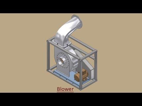 Blower (Volume-1) Video Tutorial -- Autodesk Inventor