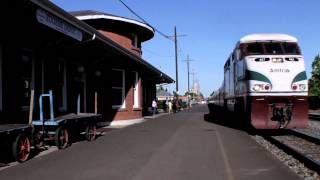 Eugene Oregon - Train Station - Eugene Train arrival - Best Shot Stock Footage