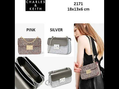 CHARLES AND KEITH GLITTER SHOULDER BAG ORIGINAL REVIEW - YouTube 6b98261b73