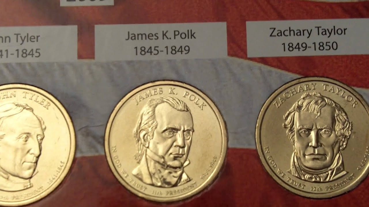 Presidential Dollar Coins 2007 2012 United States Youtube