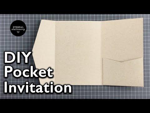 How to make a 5x7 pocket invitation | Wedding Invitation DIY | Eternal Stationery