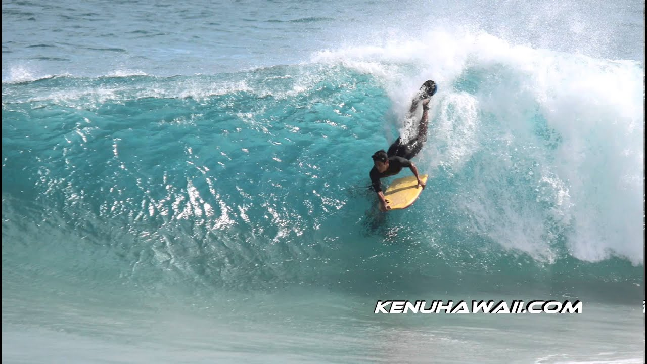 Sandy Beach Bodyboarding In Hawaii July 25 2017
