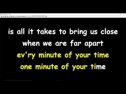 Tom Jones  - A Minute Of Your Time (karaoke)