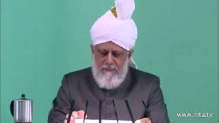 Fjalimi i xhumas 12-10-2012 - Sehabë të Mesihut të Premtuar a.s.